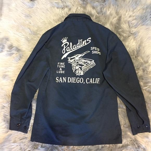 5137b4aa36b28 Rare Paladins rockabilly mechanic jacket vintage